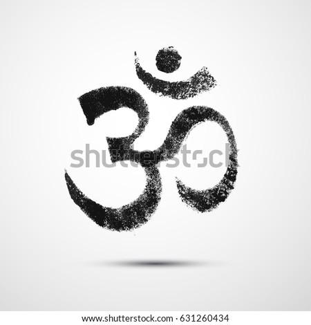 Om Sign Symbol Om Aum Ohm Stock Vector 631260434 Shutterstock