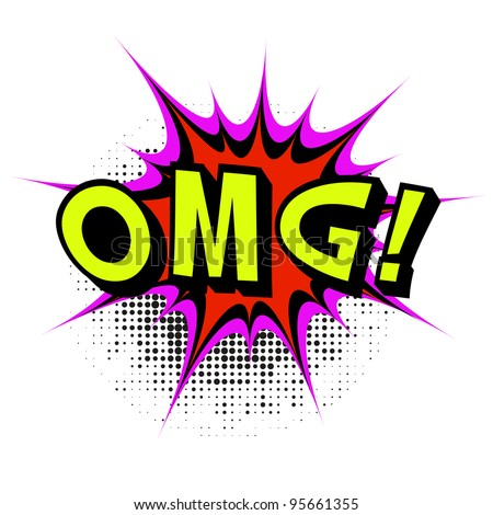 OMG. Comic book explosion. .Vector illustration. - stock vector
