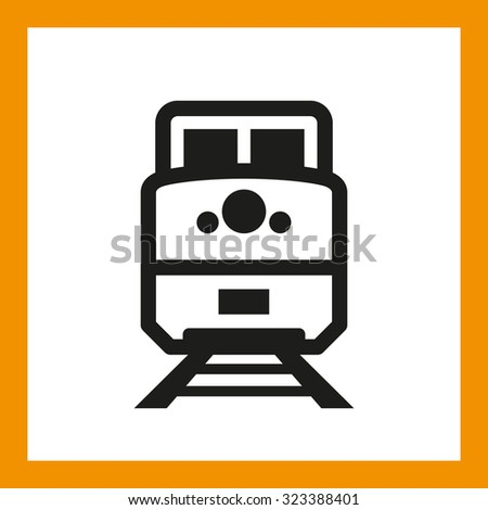 OMNI ICON SERIES: Freight train icon, railway shipping. Editable EPS vector, black isolated on white background. - stock vector