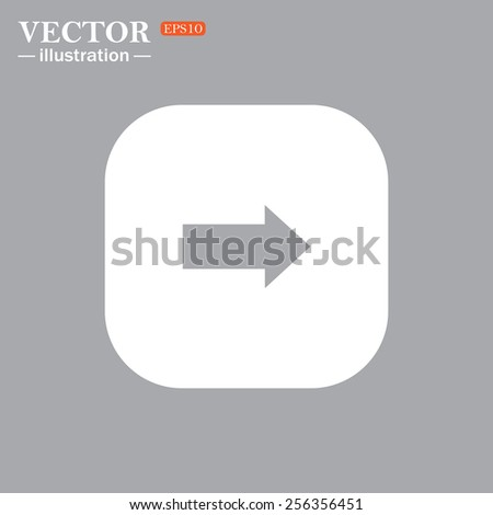 On a gray background gray icon,  arrow indicates the direction, vector illustration, EPS 10 - stock vector