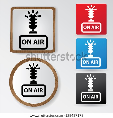On air sign,vector - stock vector
