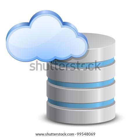 On-line backup service. Cloud network backup. Vector Illustration - stock vector