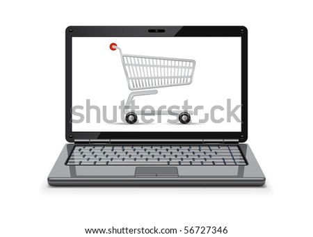 On-line shopping concept - stock vector