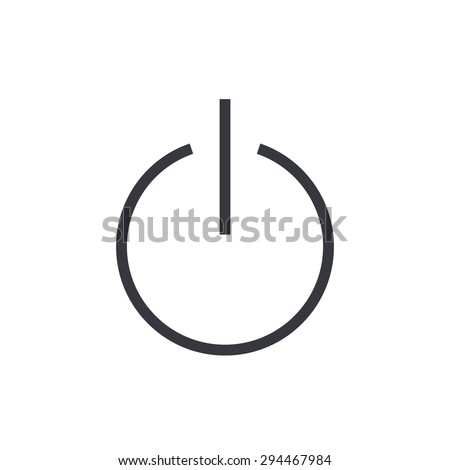 On Off Switch Symbol Power Thin Line Stock Vector Royalty Free