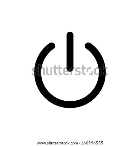 On/Off switch - vector icon - stock vector