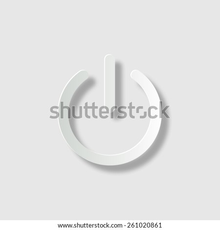 On/Off switch - vector icon with shadow - stock vector