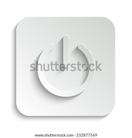 On/Off switch - vector icon with shadow on a grey button - stock vector