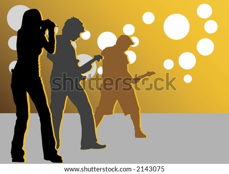 on the concert - stock vector