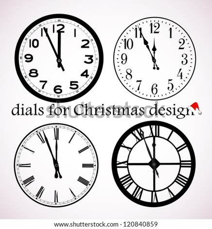 on the image Christmas dials for design with separate shooters are presented - stock vector