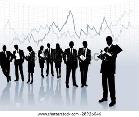 on the stock market - stock vector