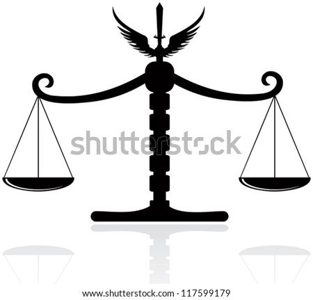 On this illustration vectorial scales are represented. - stock vector