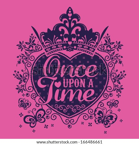 Once Upon A Time - stock vector