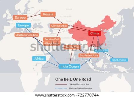 one belt one road map pdf