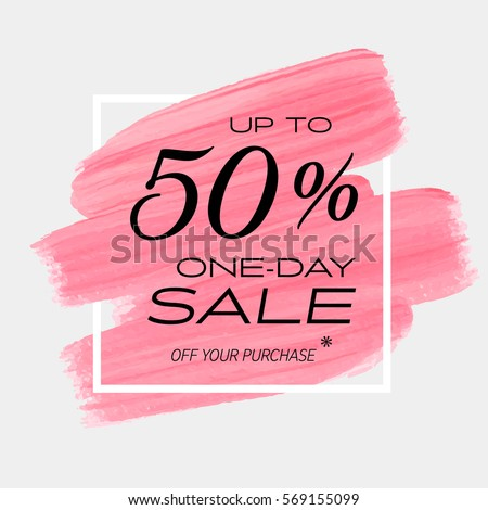 one day sale 50 off sign stock vector 569155042 shutterstock