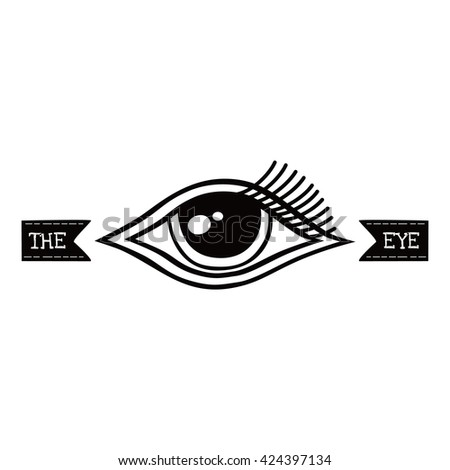 One Eye Symbol Theme Vector Art Stock Vector Hd Royalty Free
