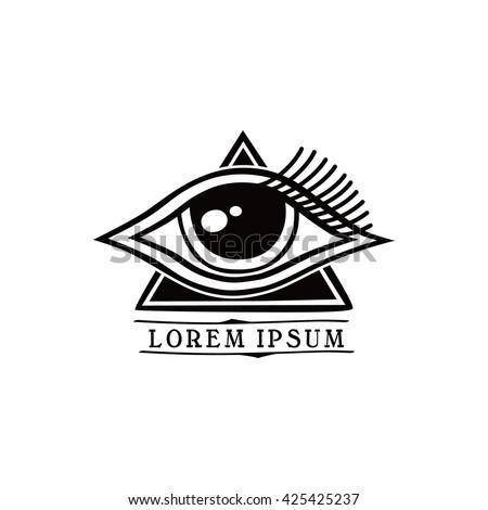 One Eye Symbol Theme Vector Art Stock Vector 425425237 Shutterstock