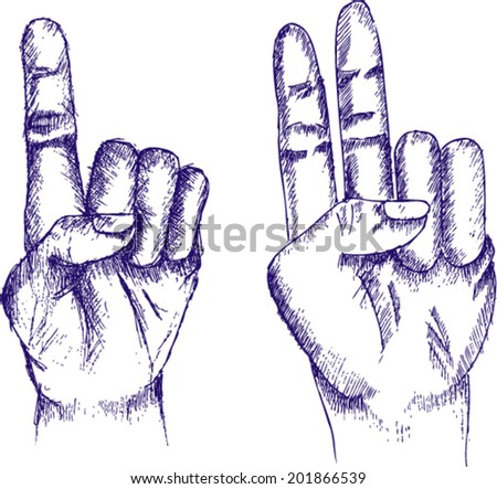 one finger, two finger, sketch