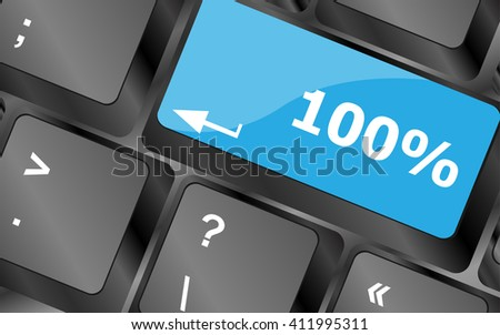 One hundred percent nature key on keyboard. Keyboard keys icon button vector