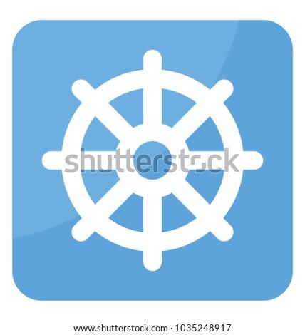 One Symbol Dharmachakra Used Buddhism Stock Vector 1035248917