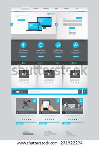 One page business website template home stock vector 231922294 one page business website template home page design clean and simple vector illustration accmission Image collections