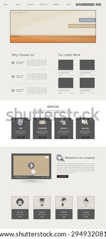 One Page Vector Corporate Website Template Desgin