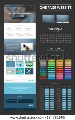 Website Page Design,landing page for website design,single page website design template