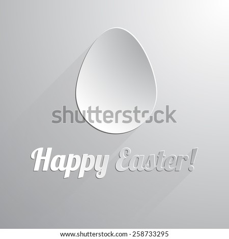 One paper happy easter egg. Vector illustration. - stock vector