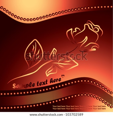 one rose silhouette , symbol of beauty and fragility - love vector illustration - stock vector