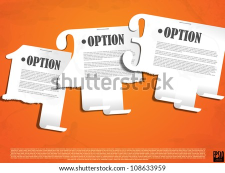 One two three. Vector illustration. Eps 10. - stock vector