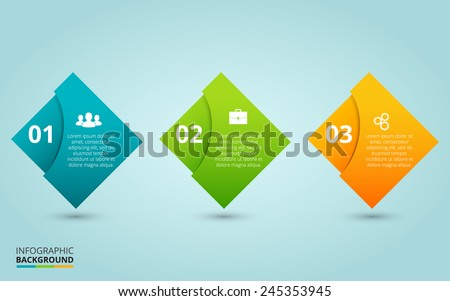 One two three - vector progress steps. Template for diagram, graph, presentation and chart. - stock vector