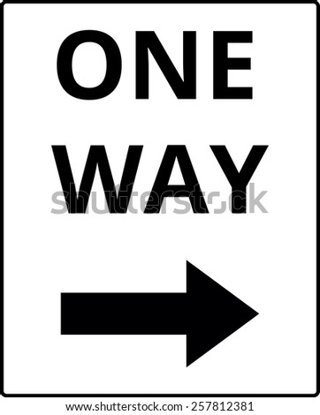 One way traffic sign - stock vector