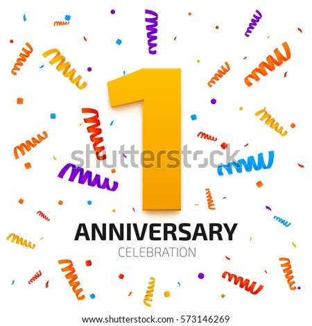 1 Year Anniversary Gifts For Boyfriend Yahoo Answers : stock-vector-one-year-anniversary-banner-year-jubilee-celebration ...
