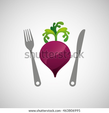 onion with knife and work, vector illustration