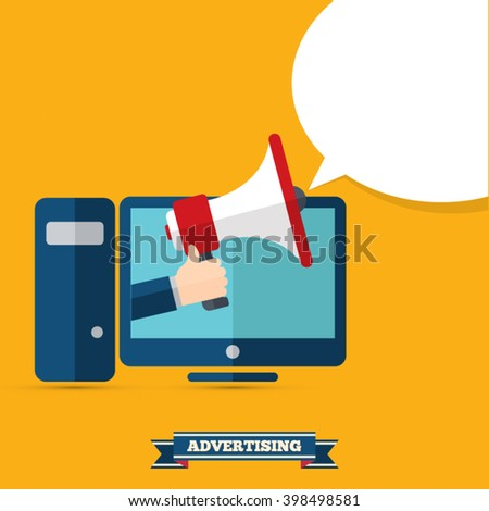 Online Advertising - stock vector