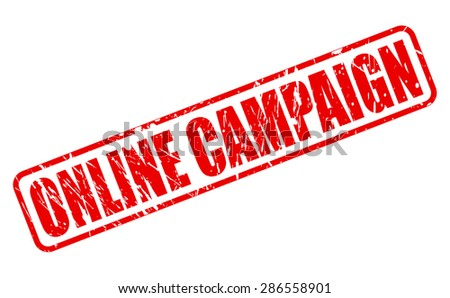 Online campaign red stamp text on white