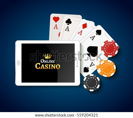 stock vector online casino design poster banner tablet with poker chips and cards on table casino gambling 559204321 Daniel Negreanu