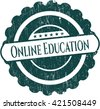 Online Education grunge style stamp - stock vector