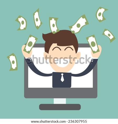 online entrepreneur - Successful business - stock vector