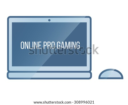 online gaming network - stock vector