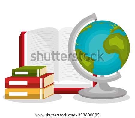 Online learning education graphic design, vector illustration.
