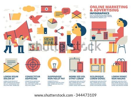 Online Marketing Infographics - stock vector