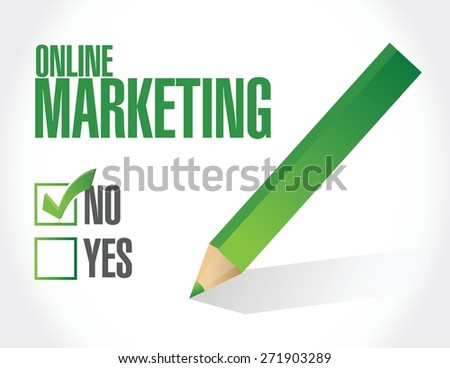 online marketing negative sign illustration design over white
