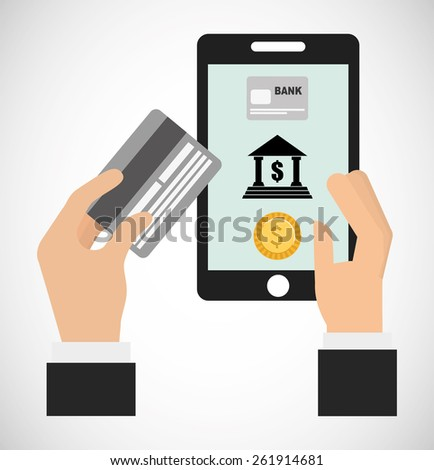 online payments design, vector illustration eps10 graphic  - stock vector