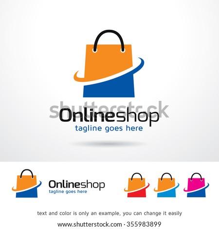 Online Shop Logo Template Design Vector  - stock vector