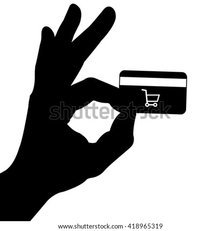 Online Shopping Design, vector in black and white color backdrop