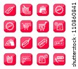 Online Shopping Vector Icon Set for web and mobile. All elements are grouped. - stock photo