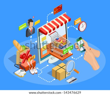 Online shopping flowchart