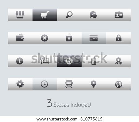 Online Store // Classic Bars +++ The vector file includes 3 buttons states in different layers. +++ - stock vector