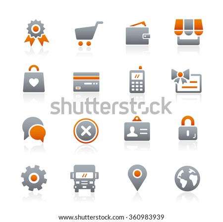 Online Store Icons // Graphite Series - stock vector