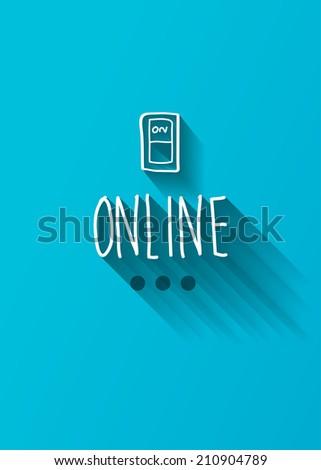 online typo with shadow vector - stock vector